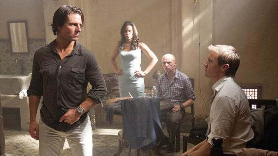 Tom Cruise, Paula Patton, Simon Pegg and Jeremy Renner in 'Mission: Impossible - Ghost Protocol'